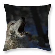 Cry In The Wild Throw Pillow