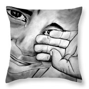 Cry Of The Oppressed Throw Pillow