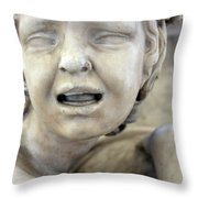 Crying Baby Throw Pillow