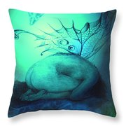 Crying Fairy Throw Pillow