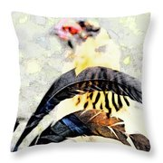 Crying Fowl Throw Pillow