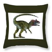 Cryolophosaurus Dinosaur Tail Throw Pillow