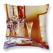 Crystal And Champagne Throw Pillow