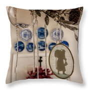 Crystal And Glass Throw Pillow by KG Thienemann