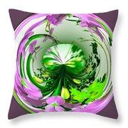 Crystal Ball Flower Garden Throw Pillow