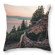 Crystal Bay Hut Throw Pillow