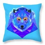 Crystal Bear - 90 Throw Pillow