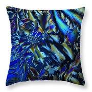 Crystal Blues Throw Pillow