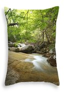 Crystal Brook - Lincoln New Hampshire Usa Throw Pillow