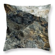 Crystal Cave Marble Ceiling Throw Pillow