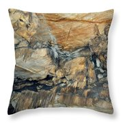Crystal Cave Marble Formations Portrait Throw Pillow