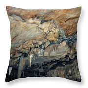 Crystal Cave Marble Throw Pillow