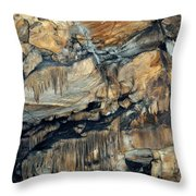 Crystal Cave Marble Sequoia Portrait Throw Pillow
