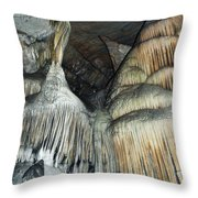Crystal Cave Portrait Sequoia Throw Pillow