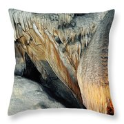 Crystal Cave Sequoia Landscape Throw Pillow