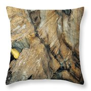 Crystal Cave Wall Formations Throw Pillow