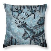 Crystal Cavern Procession Throw Pillow