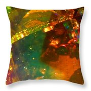 Crystal Colors Throw Pillow