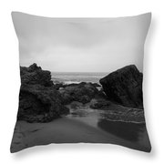 Crystal Cove Rocks  Throw Pillow