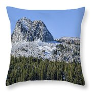 Crystal Crag Throw Pillow