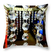 Crystal Curtain Throw Pillow