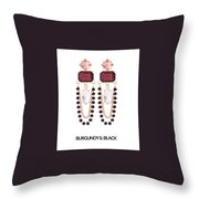Crystal Earrings For Women Throw Pillow