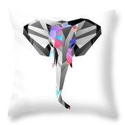 Crystal Elephant - 56 Throw Pillow