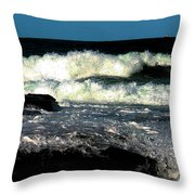 Crystal Fingers Of The Sea Throw Pillow