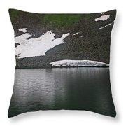 Crystal Lake Colorado Throw Pillow