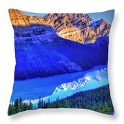 Crystal Lake Throw Pillow