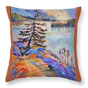 Crystal Light Over The Lake Throw Pillow