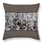 Crystal Memories Throw Pillow