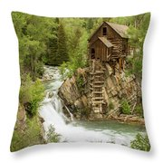 Crystal Mill In July Throw Pillow