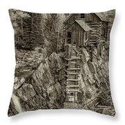 Crystal Mill Marble Colorado Sepia Dsc06944 Throw Pillow
