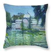 Crystal Palace Madrid Spain 2016 Throw Pillow