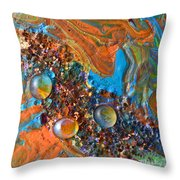 Crystal Reef Of The Keys Throw Pillow