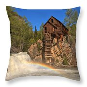 Crystal River Rainbow Throw Pillow