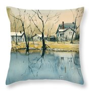 Crystal River View Throw Pillow