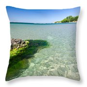 Crystal Sea Throw Pillow