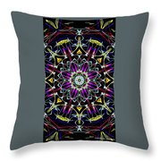 Crystal Sun Throw Pillow