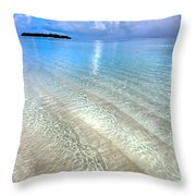 Crystal Water Of The Ocean Throw Pillow by Jenny Rainbow