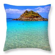 Crystal Waters Throw Pillow by Scott Mahon