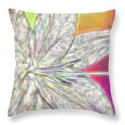Crystal White Lily Throw Pillow
