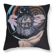 Crystal Wizard Throw Pillow