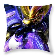 Crystalized Ecstasy Abstract  Throw Pillow
