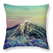 Crystalline Mountain Throw Pillow