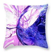 Crystallized Abstract Throw Pillow