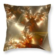 Crystals Of Gold Throw Pillow