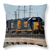 Csx 8011 Bone Valley Bound Throw Pillow