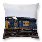Csx At Waycross Georgia Throw Pillow